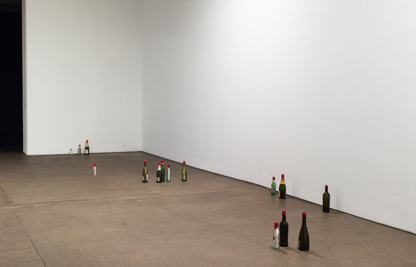 <i>Review</i> 2012 Assortment of bottles, ink, paper, red sealing wax Dimensions variable
