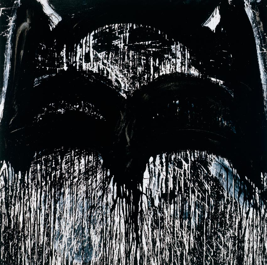 Batman II 2011 Enamel on linen 48 x 40 inches