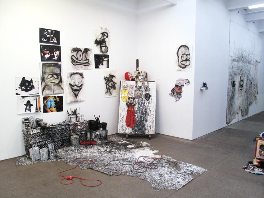 Installation view Batman Returns Friedrich Petzel Gallery 2012