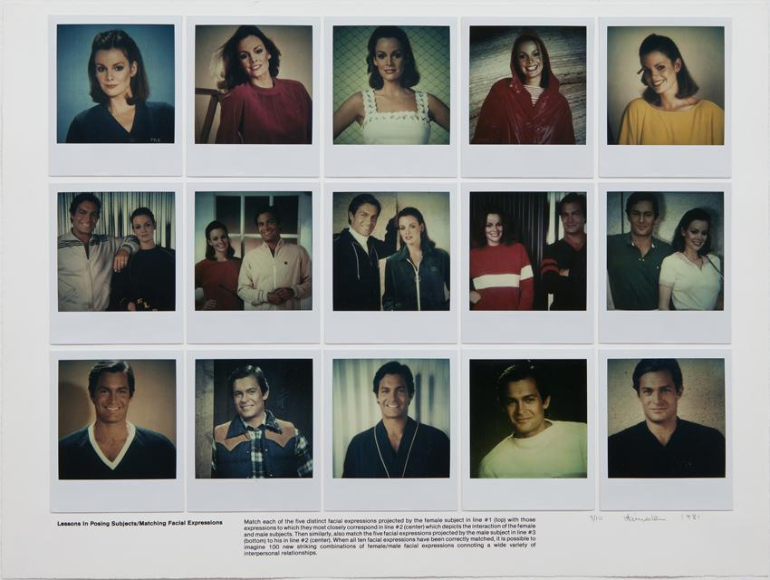 Robert Heinecken Lessons in Posing Subjects/Matching Facial Expressions Polaroid