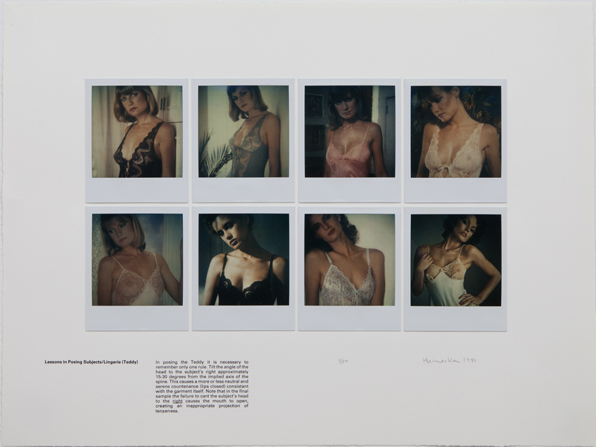 Robert Heinecken Lessons in Posing Subjects/Lingerie (Teddy) Polaroid