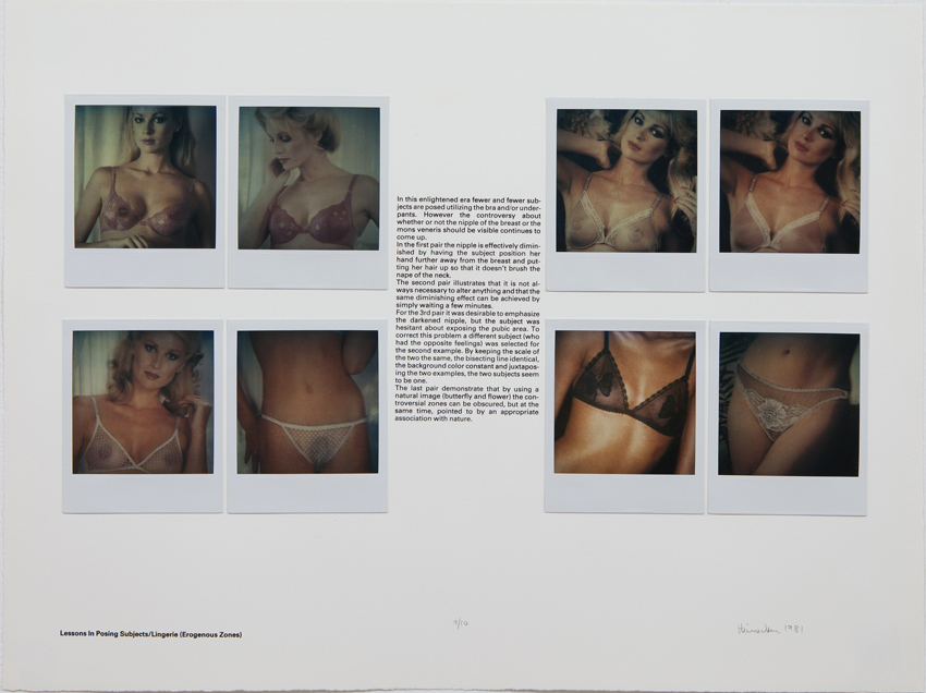 Robert Heinecken Lessons in Posing Subjects/Lingerie (Erogenous Zones) Polaroid