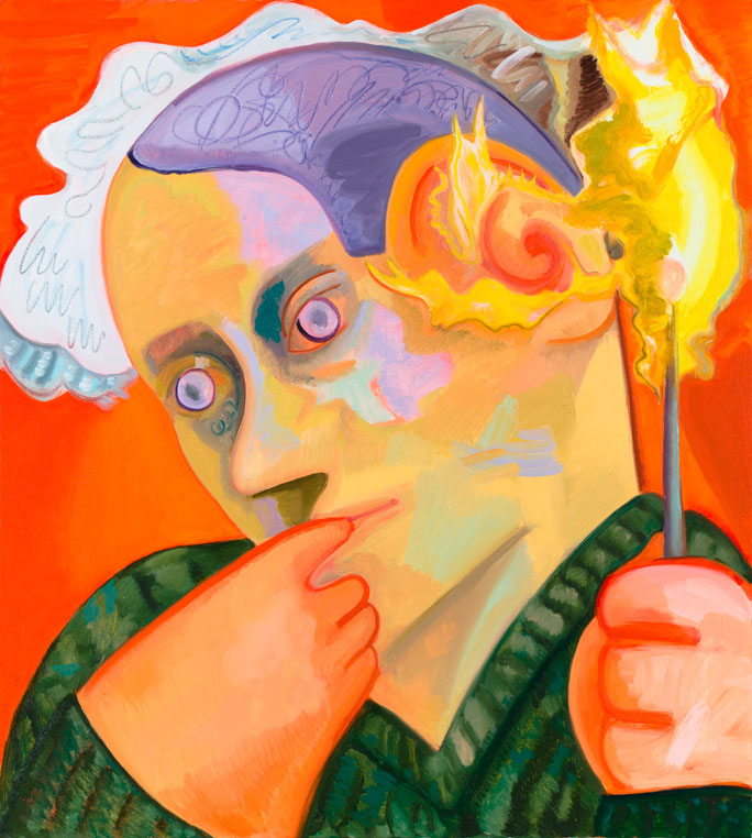 <i>Ear on Fire</i> 2012 Oil on canvas 40 x 36 inches