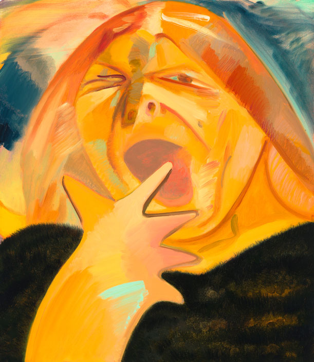 Yawn 3 2012 Oil on canvas 23 x 20 inches