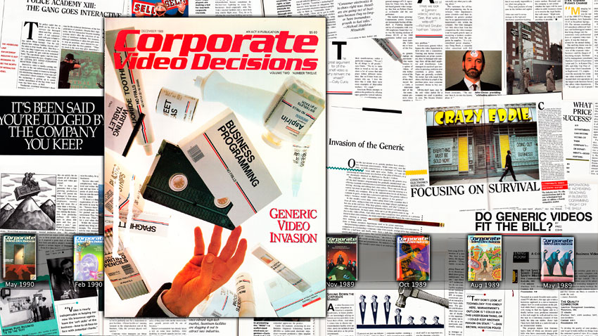 Simon Denny Corporate Video Decisions Double Canvas (Generic Video Invasion)