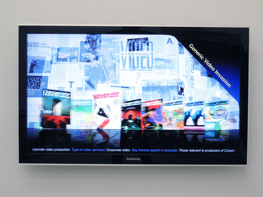 Simon Denny Corporate Video Decisions Archive Interface Design