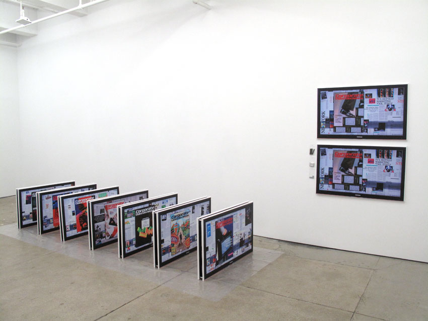 Simon Denny Installation view Friedrich Petzel Gallery