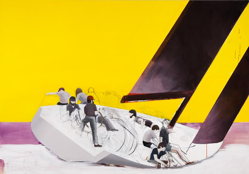 Regatta 2009 Acrylic on canvas 60.24 x 86.02 inches