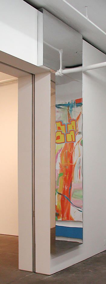 2 Boxes 2002 wood, mirrored plexiglass 159 x 48 x 4 inches/403.9 x 121.9 x 10.2 cm