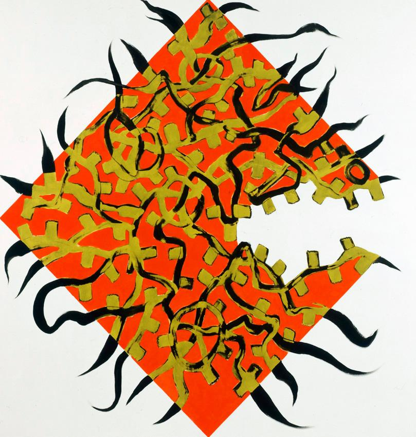 <i>Now or Else</i> 2009 Acrylic and oil on linen 82 x 78 inches