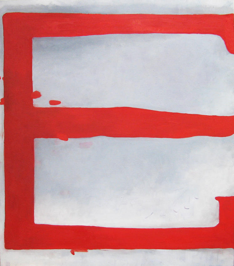 Red E 2006 oil on linen 38.98 x 34.25  inches/99 x 87 cm