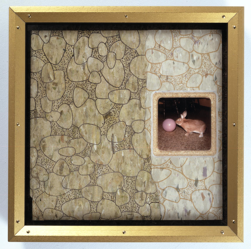 Bremen Towne - Kitchen Tile Collage 2008 various materials framed: 14.5 x 14.5 inches/36.8 x 36.8 cm