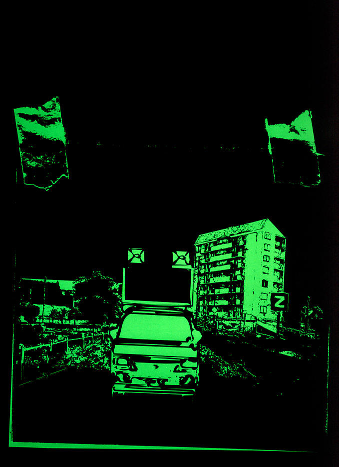 The Day After, Kitakyushu 2003 2003 silkscreen ink on paper, ed. of 6 72.83 x 47.24 inches/185 x 120 cm