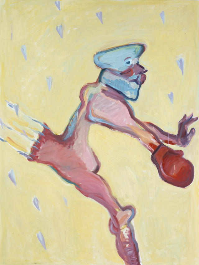 Der Delikate Boxer 2000 oil on canvas 78.74 x 59.06 inches/200 x 150 cm