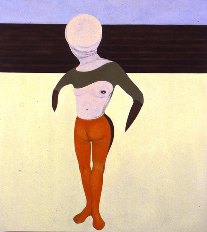 Figure and Ploughed Field 1994 oil on linen 56 x 50 inches/142.2 x 127 cm