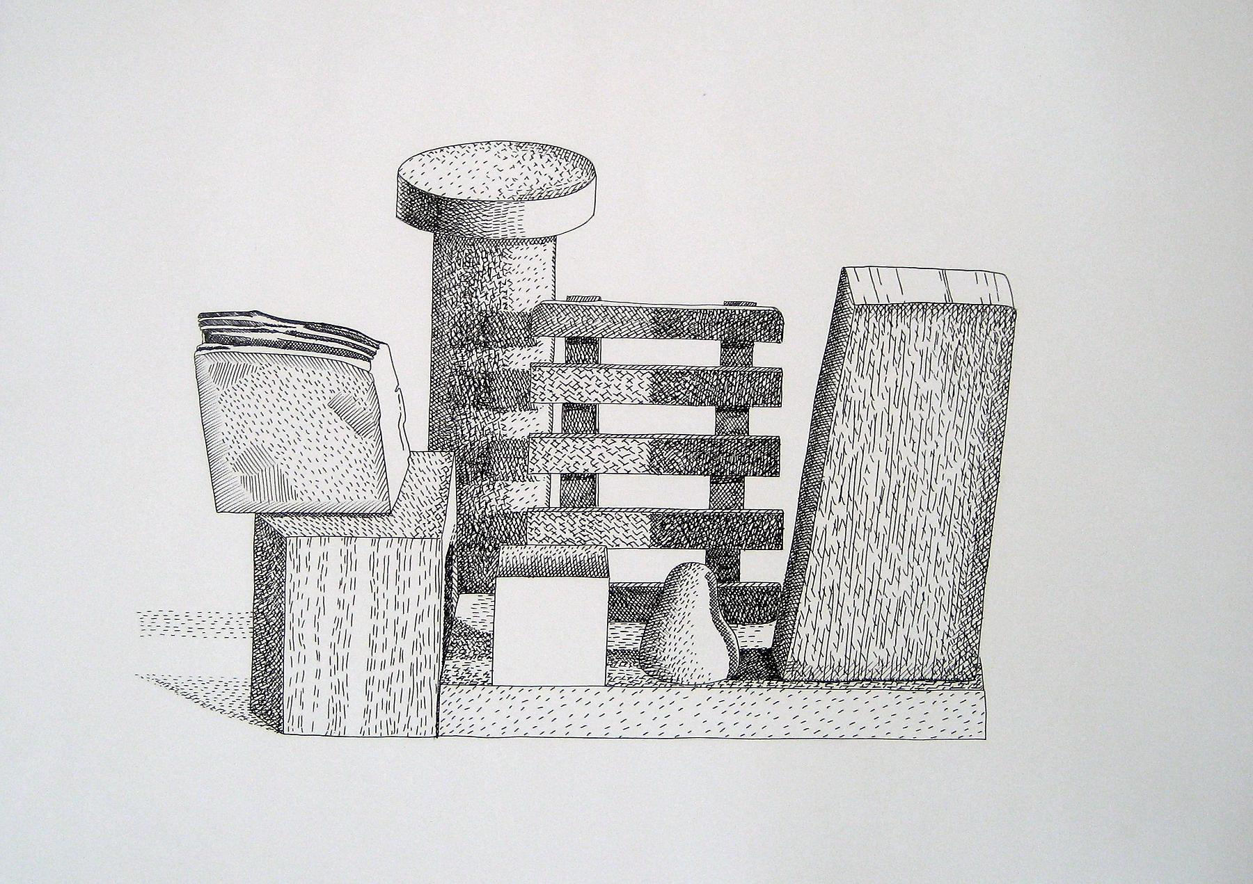 Nathalie Du Pasquier <i>Untitled</i> 2009 Ink pen on paper 19.69 x 27.56 inches