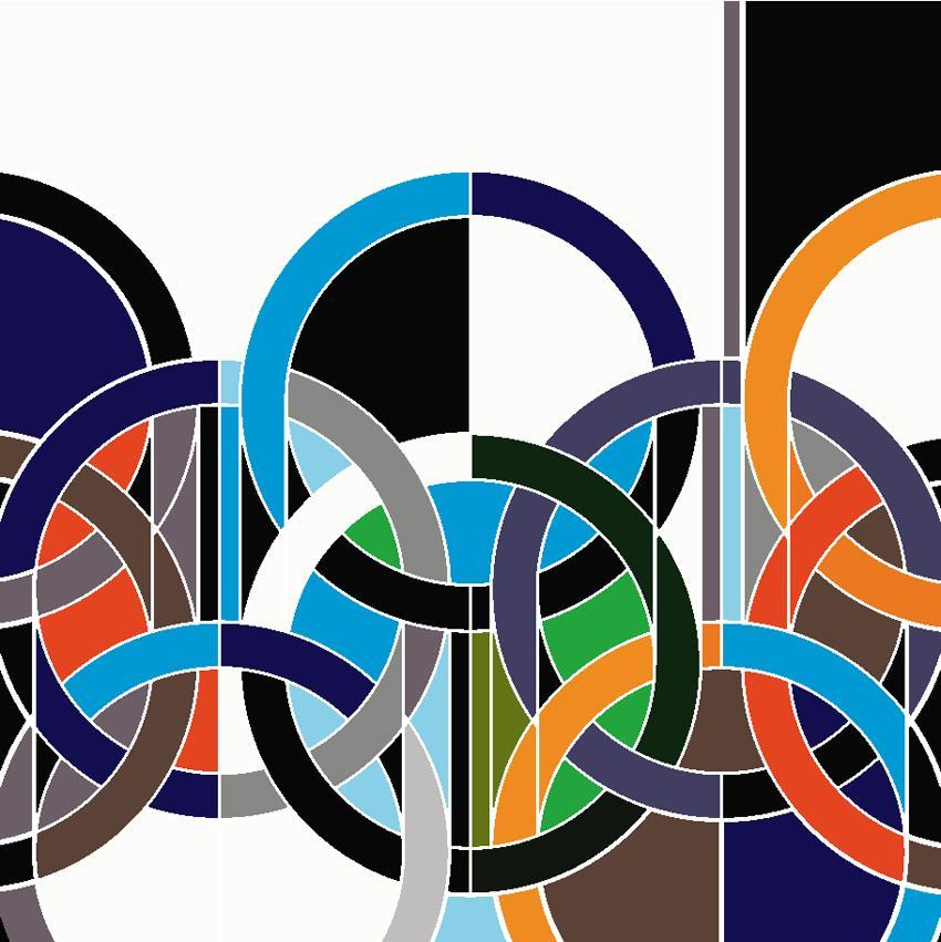 Sarah Morris Painting 1968 Rings 2006