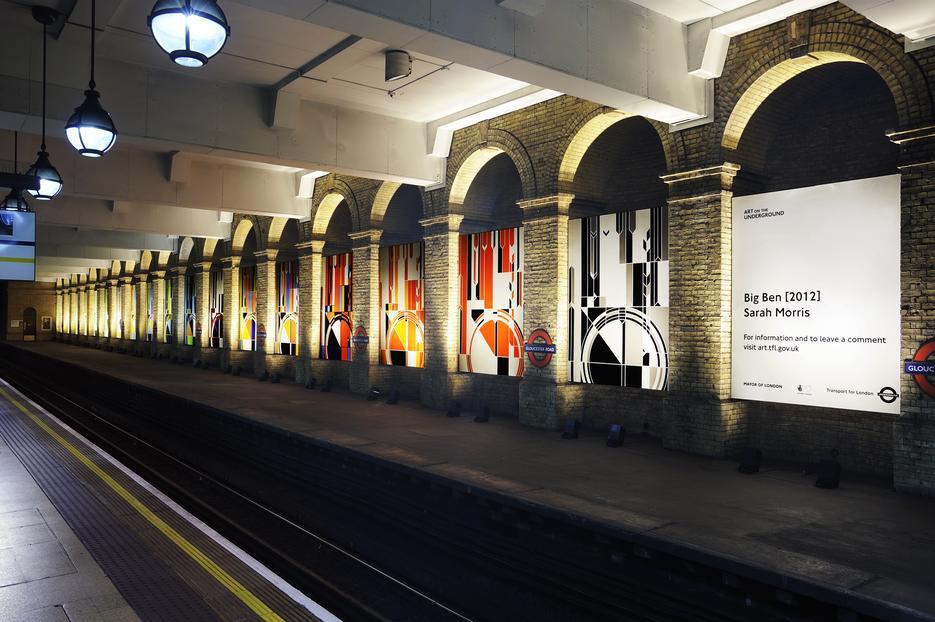 Sarah Morris Vinyl Big Ben 2012 London