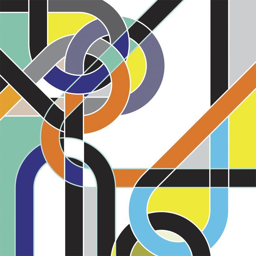 Sarah Morris Painting Doublesheet Bend Knots 2009