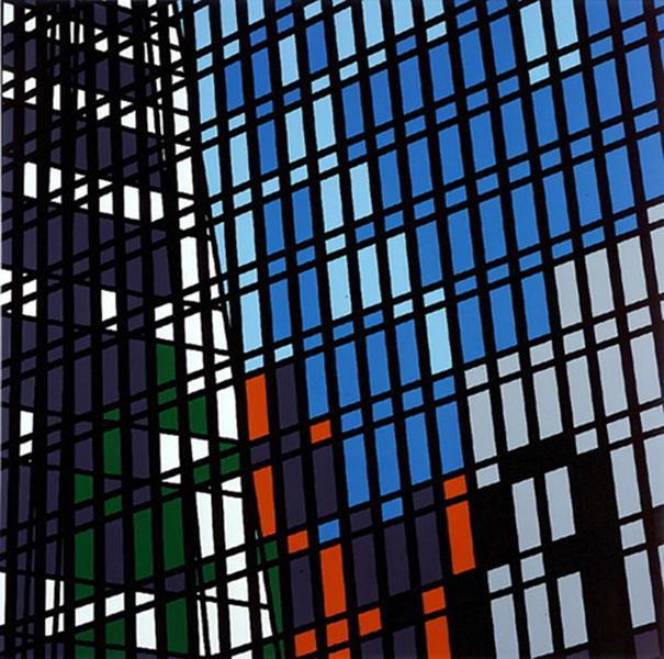Sarah Morris Painting Midtown-HBO/Grace 1999