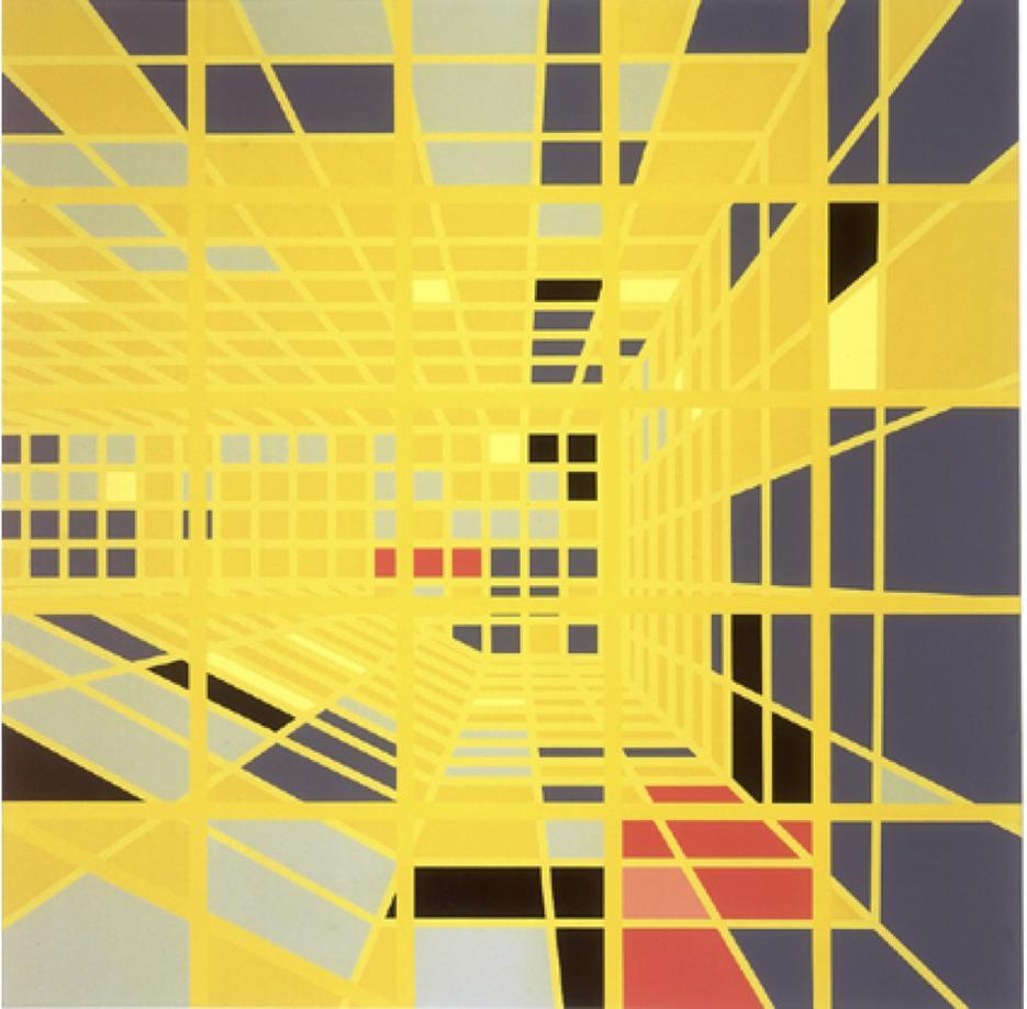 Sarah Morris Painting Pools - Century Miami 2003