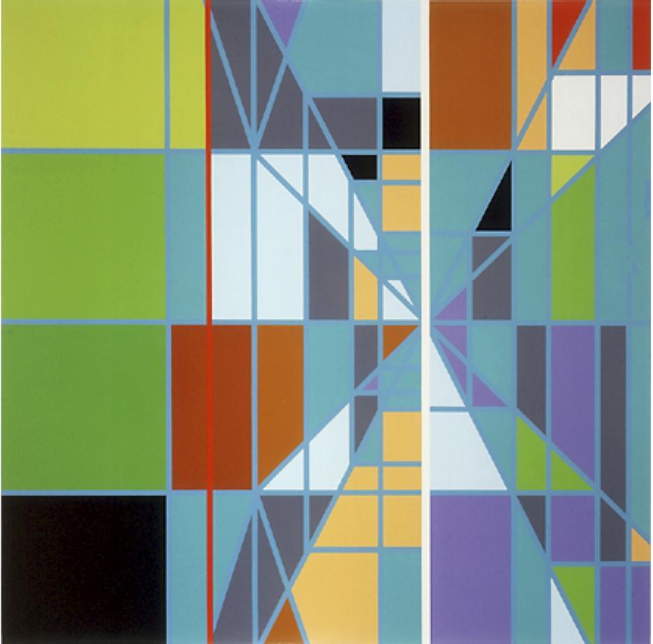 Sarah Morris Painting Pools - Cocowalk Miami 2003