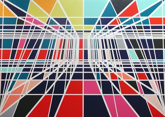 Sarah Morris Painting Reflecting Pool Capital 2001