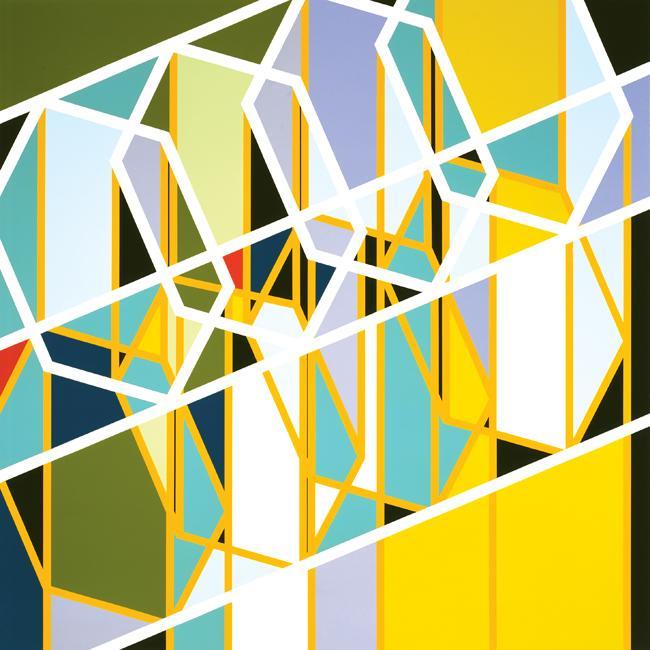 Sarah Morris Painting Robert Towne Los Angeles 2006