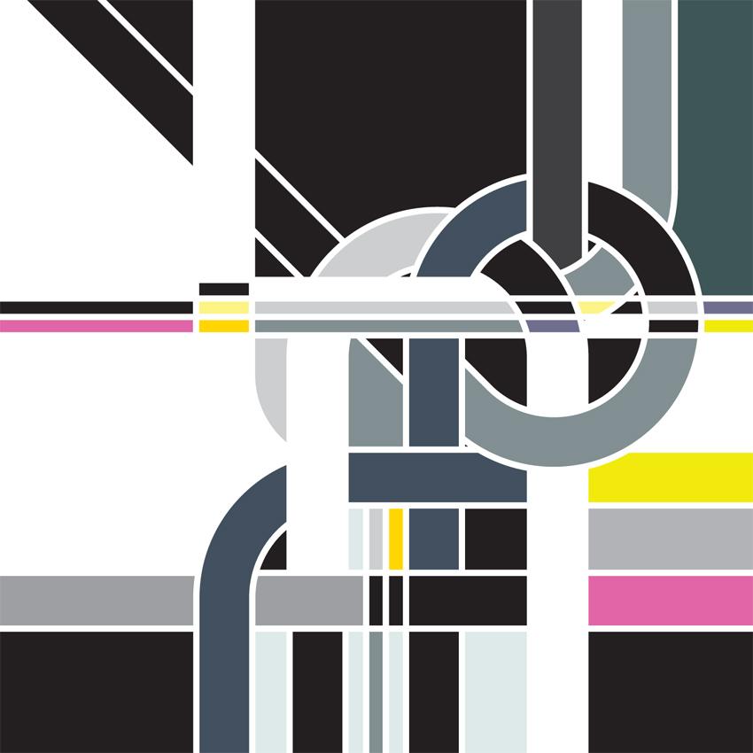 Sarah Morris Painting Singlesheet Bends Knots 2009