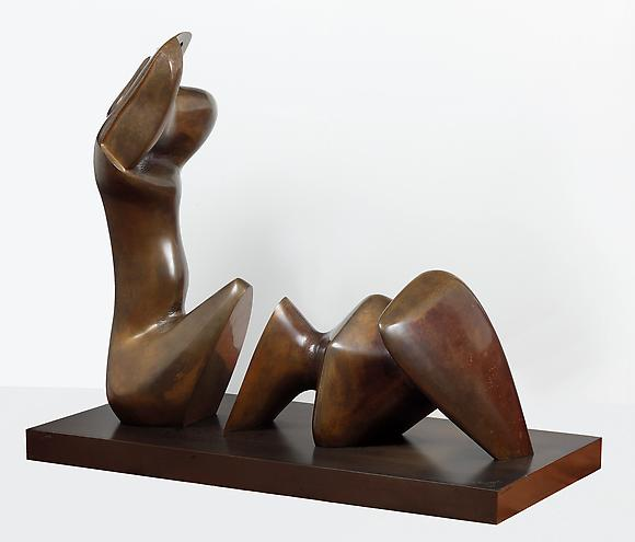 Henry Moore Working Model for Two Piece Reclining Figure: Cut, 1978 - 79 Bronze 30 3/4 x 37 3/8 x 18 1/8 in. 78.1 x 94.9 x 46 cm