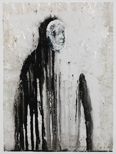 Veiled Shadow XVI, 2011 Mixed media on paper 16 1/2 x 11 3/4 inches 42 x 30 cm