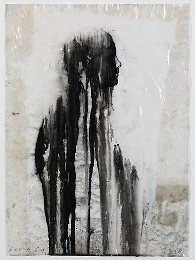 Veiled Shadow XXII, 2011 Mixed media on paper 16 1/2 x 11 3/4 inches 42 x 30 cm