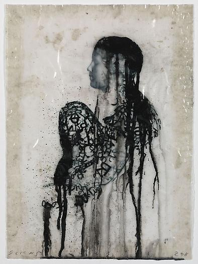 Veiled Shadow XXX, 2011 Mixed media on paper 16 1/2 x 11 3/4 inches 42 x 30 cm