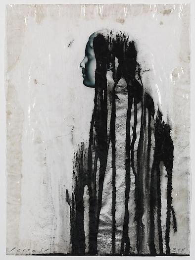 Veiled Shadow XXXII, 2011 Mixed media on paper 16 1/2 x 11 3/4 inches 42 x 30 cm
