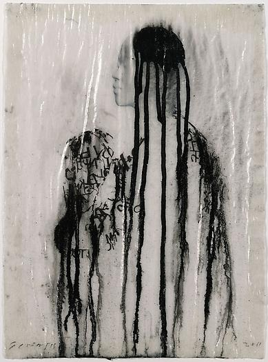 Veiled Shadow XLI, 2011 Mixed media on paper 16 1/2 x 11 3/4 inches 42 x 30 cm