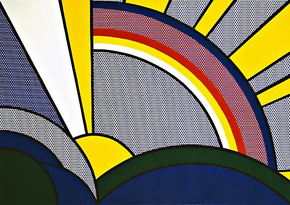 Modern Painting with Sun Rays, 1967 Oil and magna on canvas 48 x 68 in. 121.9 x 172.7 cm