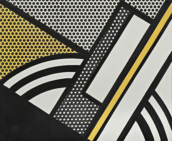 Modern Painting  with Yellow Shaft, 1967 Oil and magna on canvas 16 x 20 in. 40.6 x 50.8 cm