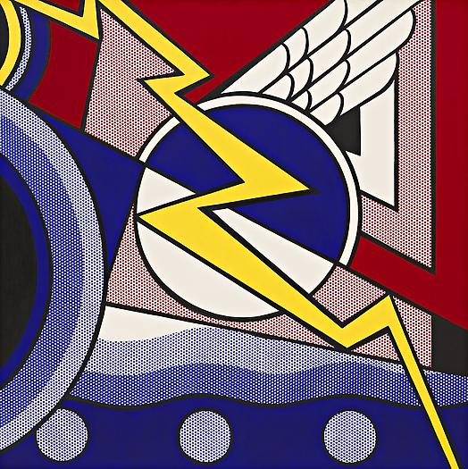 Modern Painting with Bolt, 1967 Oil and magna on canvas 68 x 68 in. 172.7 x 172.7 cm