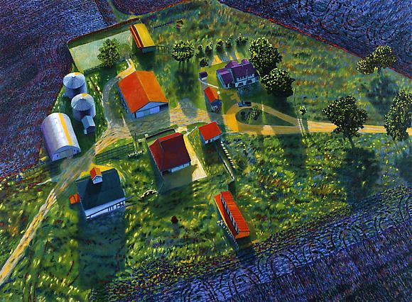 Illinois Flatscape #51, 1992 Oil and acrylic on canvas 60 x 82 in. 152.4 x 208.3 cm