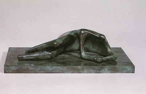 Reclining Figure: Headless, 1982 Bronze 10 in. 25.4 cm