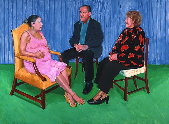 Elsa, David and Dayanna, 2005 Oil on canvas 56 x 76 in. 142.2 x 193 cm