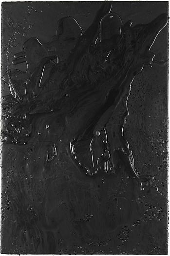 Cosmic Slop, 2008 Black soap and microcrystalline wax on board 36 x 24 inches 91.4 x 61 cm