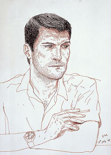 Jean-Pierre de Lima, 2002 Ink on paper 14 1/4 x 10 1/4 in. 36.2 x 26 cm