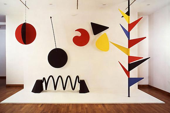 Alexander Calder Model for the Universe, 1974 Mechanised mobile, painted sheet metal 144 x 216 x 84 in.
