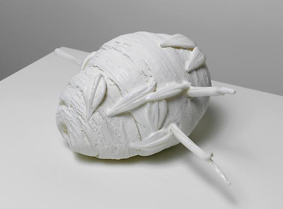 Untitled (White Paper Wasp's Nest), 2007 Hand-blown glass 7 3/4 x 16 x 10 inches 19.7 x 40.6 x 25.4 cm