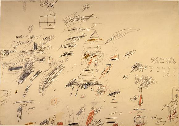 Roma, 1959-61 Pencil, crayon and ink on paper 27 1/2 x 39 1/4 in. 69.8 x 99.7 cm