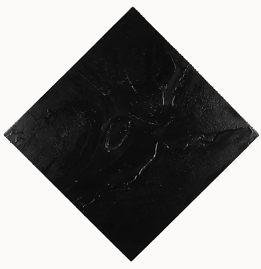 Cosmic Slop, 2008 Black soap and microcrystalline wax on board 70 x 70 inches 177.8 x 177.8 cm