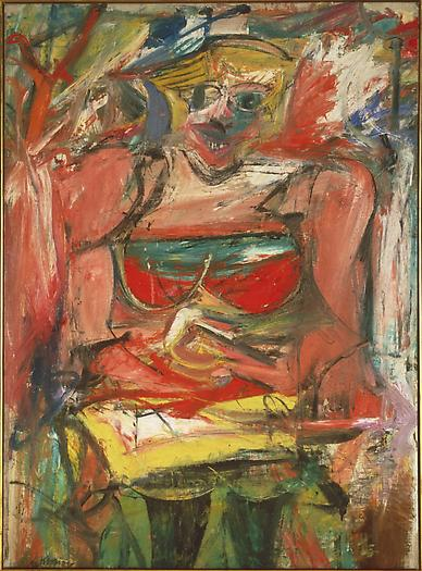 Willem de Kooning Woman V, 1952-53 Oil on canvas 61 x 45 in.