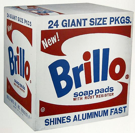 Andy Warhol Brillo Box, 1964 Silkscreen ink and house paint on plywood 17 x 17 x 14 in. 43.2 x 43.2 x 35.6 cm