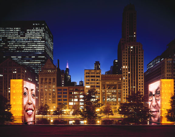 Crown Fountain, 2005 Millennium Park Chicago